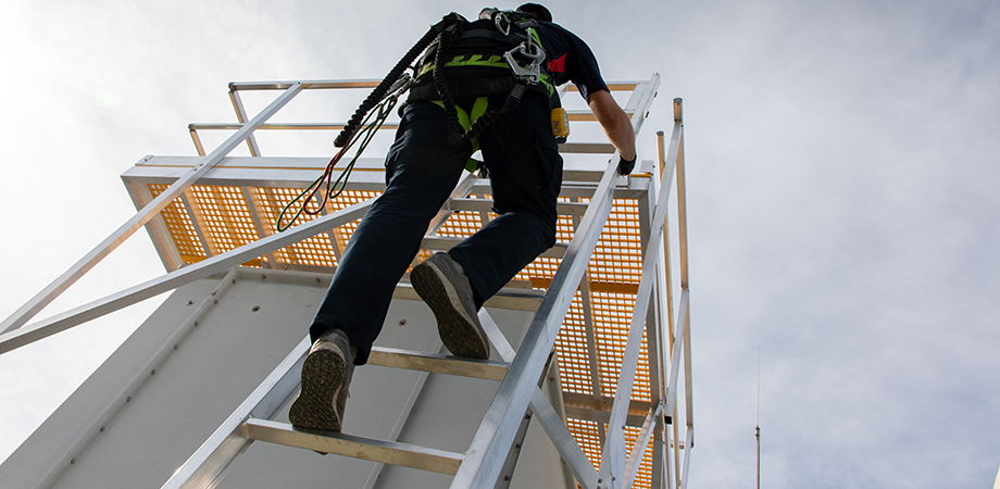 Ladders allow safe access to working at heights areas or roofs.