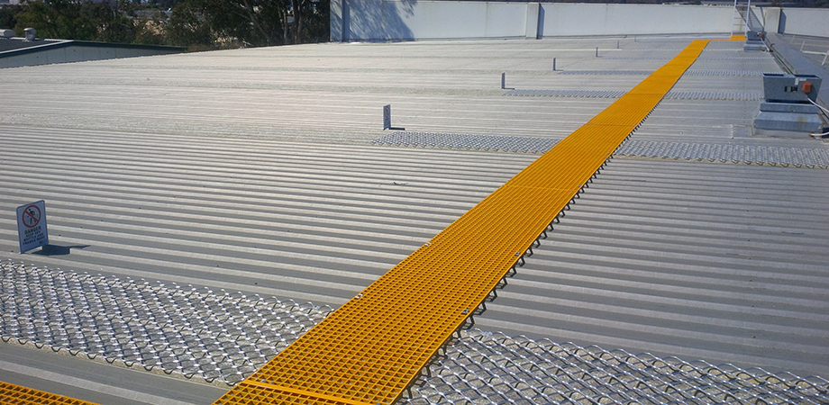 Walkway components are used to create safe movement paths along roofs.