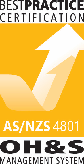 We hold certification in AS/NZS 4801 OH&S Management System.