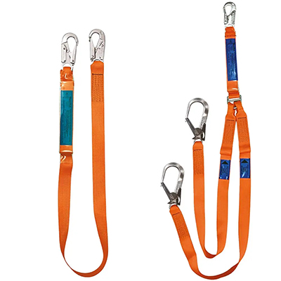 Spanset ERGO single and twin-tail fall arrest lanyards
