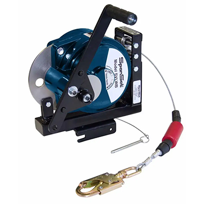 SpanSet Winch SVLWB used for confined space access.