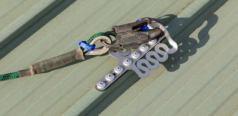 Roof anchor poiints require recertification annually.